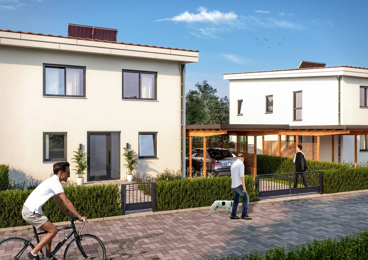 Visualisierung Baugebiet Hafersiek Straße