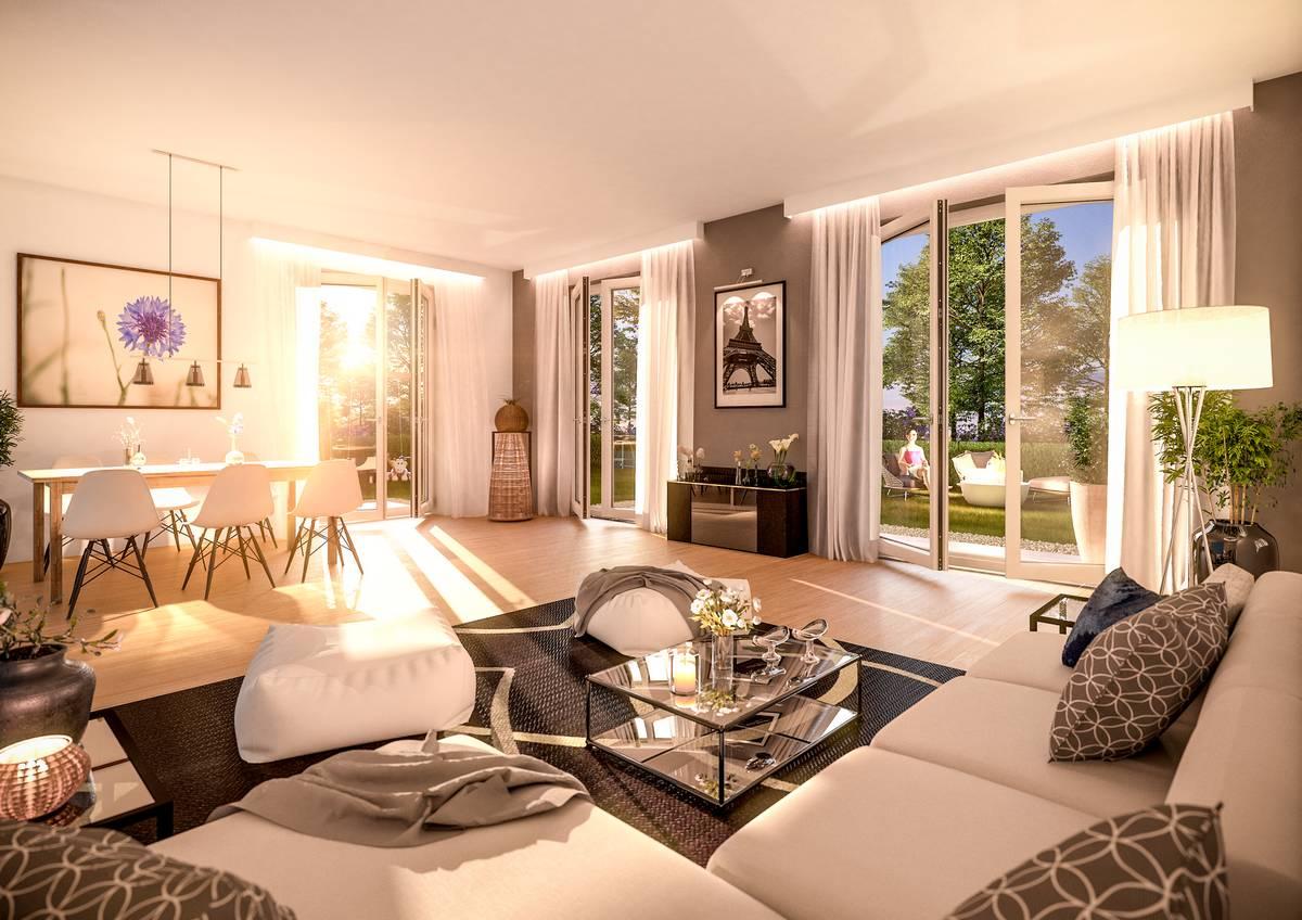 Visualisierung Baugebiet Hafersiek Wohnzimmer
